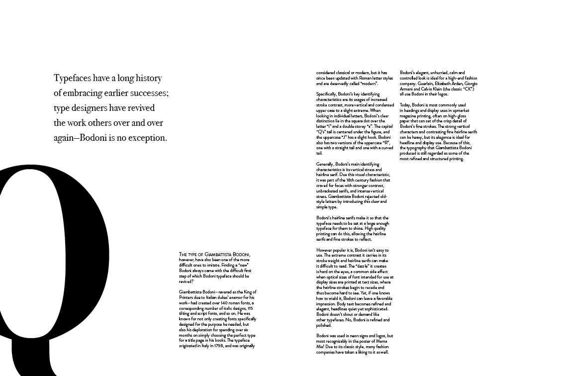 Sabrina Zhai :: Bodoni Typeface